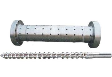 浙江栋斌橡机螺杆φ90 -200冷喂料销钉螺杆、机筒