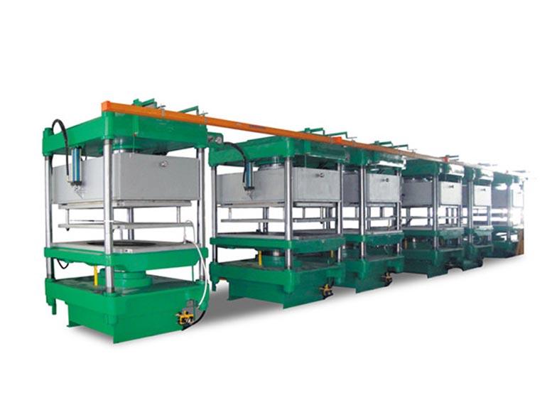 泉州金鹰机械GHL-200T-6台联机碳纤维模压成型机