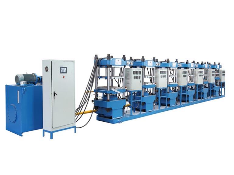 泉州金鹰机械GHL-100T-6台联机平板硫化机