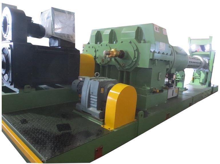 桂林合众国际橡塑机械对顶式内衬层双挤出生产线